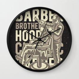 Barber Brotherhood Wall Clock