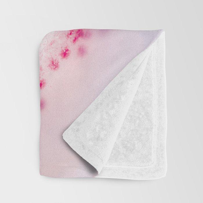 Pink Rose Gold Blush Agate Marble Gemstone Throw Blanket