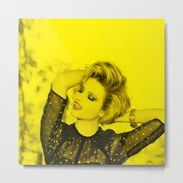 Dianna Agron - Celebrity (Florescent Color Technique) Metal Print
