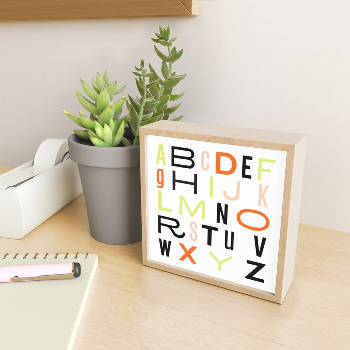 Eclectic Alphabet Framed Mini Art Print
