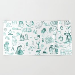 Sketches Beach Towel