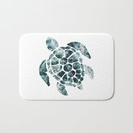 Sea Turtle - Turquoise Ocean Waves Bath Mat