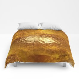 Hammered Gold Comforters