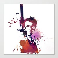 harry Canvas Prints featuring Harry by BIG Colours