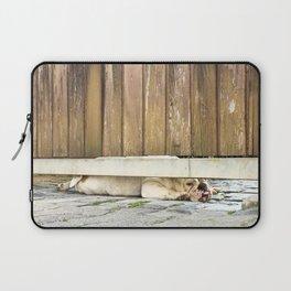 Bored Bulldog And Yard Gate Laptop Sleeve