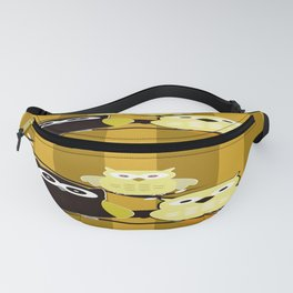 Yellow Owls Fanny Pack