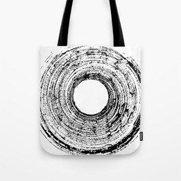 Black Ink Circle Tote Bag