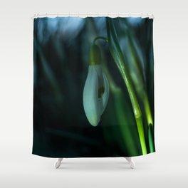 Makro_Schneeglöckchen_1 Shower Curtain