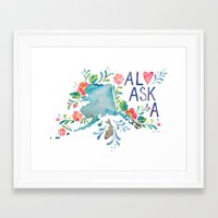 alaska Framed Art Prints featuring Alaska by Grace Wolf