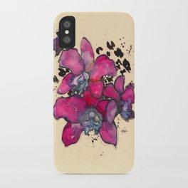 Fuchsia Orchids iPhone Case
