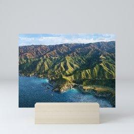 Pacific Coast Highway, Coastal California Santa Lucia Mountains landscape painting Mini Art Print