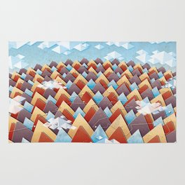 Abstract Adventurous Mountain Art Rug