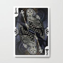Owl Deck: King of Clubs Metal Print