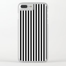 Black & White Stripe Clear iPhone Case