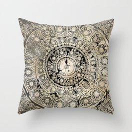 BLACK & GOLD MANDALA ARMARRI OKRE Throw Pillow