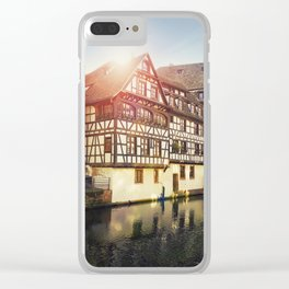 Traditional timbered houses Clear iPhone Case