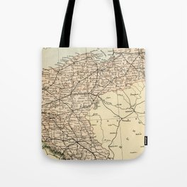 Old Map of Germany Tote Bag