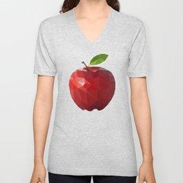 Low Poly Apple Unisex V-Neck