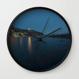 Dubrovnik Moonrise Wall Clock