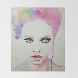 Watercolour Poster Print Mag Zeben Art Throw Blanket