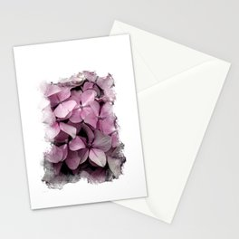 Pink Hydrangeas Stationery Cards