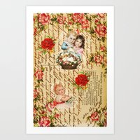shabby chic Art Prints featuring Shabby Chic by Diego Tirigall
