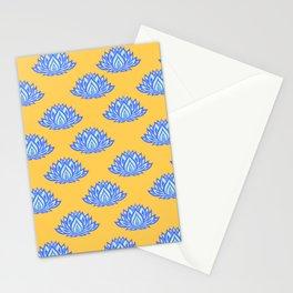 Lotus Pattern Orange Stationery Cards