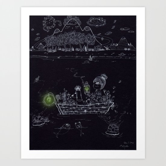 Finding your dream.... Art Print