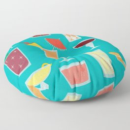 Retro Cocktails Floor Pillow