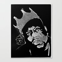 biggie Canvas Prints featuring Biggie by Factory Three