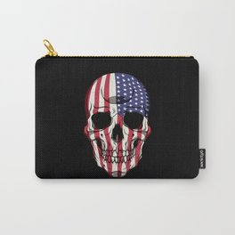Patriotic Skull - United States Flag - USA Patriot Carry-All Pouch