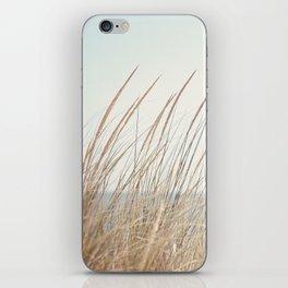 Beach Grass Photography, Calming Coastal Photo Print, Relaxing Beach House Photograph, Seaside Photo iPhone Skin