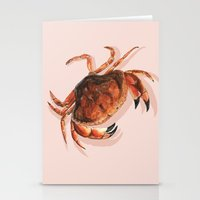 crab Stationery Cards featuring Crab by Trinity Mitchell
