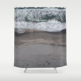 Pacific Beach Waves Shower Curtain
