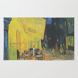 Van Gogh -  The Cafe Terrace on the Place du Forum, Arles, at Night Rug