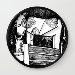 Cow Lick: Nightmares Are REAL! Wall Clock