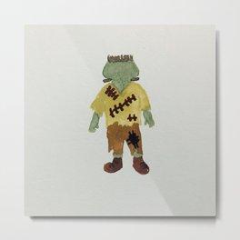 Trick or Treat Halloween Toddler Frankenstein Monster Metal Print