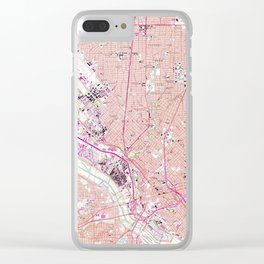 Vintage Map of Dallas Texas (1958) Clear iPhone Case