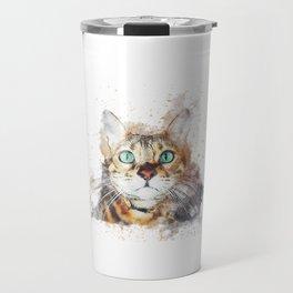 Glowing Cat Eyes Travel Mug