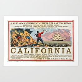A New and Magnificent Clipper for San Francisco. Merchant's Express Line of Clipper Ships! Art Print
