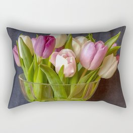 Flowers in a vase - Tulips are better than one Rectangular Pillow