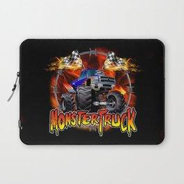 Monster Truck blue on Fire                                          Laptop Sleeve