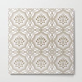 seamless paper cut  floral pattern, indian style Metal Print