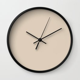 Monochrome collection Beige Wall Clock