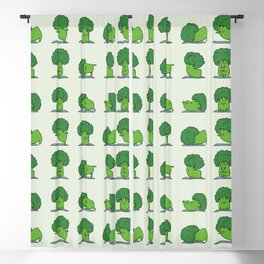Broccoli Yoga Blackout Curtain