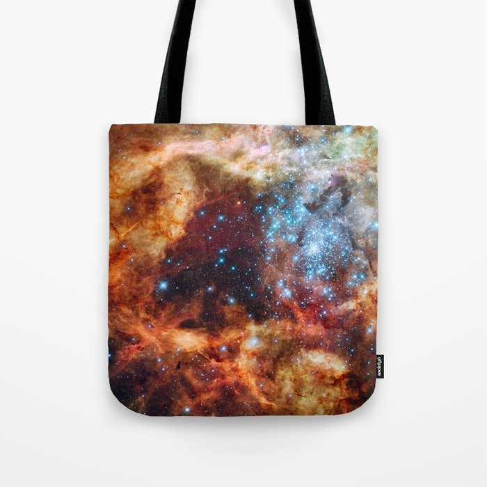 Grand star-forming region R136 in NGC 2070 captured by the Hubble Space Telescope Tote Bag