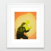kermit Framed Art Prints featuring kool kermit by Kingu Omega