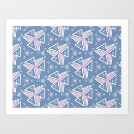 Arrows and triangle designs Art Print