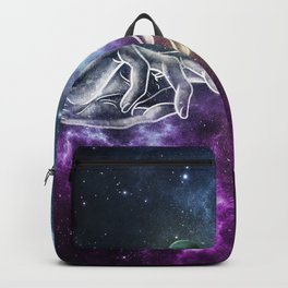 The meeting of souls. Backpack