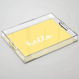 HELLO YELLOW Acrylic Tray
